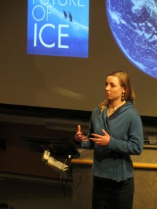 Postdoc Sarah Myhre, Future of Ice, giving short talk